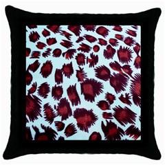 Jaguar Textile Background Throw Pillow Case (Black)