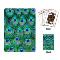 Peacock Feather Playing Card