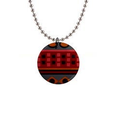 Red Aztec Button Necklaces