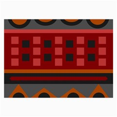 Red Aztec Collage Prints