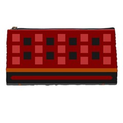 Red Aztec Pencil Cases