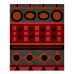 Red Aztec Shower Curtain 60  X 72  (medium)