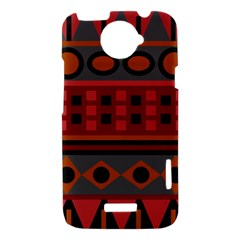 Red Aztec HTC One X Hardshell Case