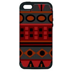 Red Aztec Apple iPhone 5 Hardshell Case (PC+Silicone)