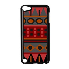 Red Aztec Apple iPod Touch 5 Case (Black)