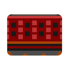 Red Aztec Double Sided Flano Blanket (Mini)