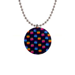 Seamless Tile Repeat Pattern Button Necklaces
