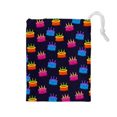 Seamless Tile Repeat Pattern Drawstring Pouches (Large)