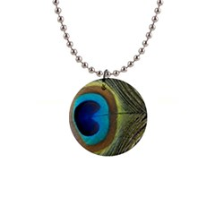 Single Peacock Button Necklaces