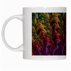 Fractal Art Design Colorful White Mugs