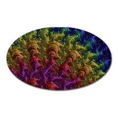 Fractal Art Design Colorful Oval Magnet