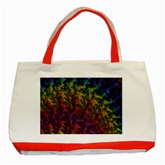 Fractal Art Design Colorful Classic Tote Bag (Red)