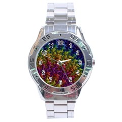 Fractal Art Design Colorful Stainless Steel Analogue Watch