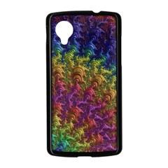Fractal Art Design Colorful Nexus 5 Case (Black)