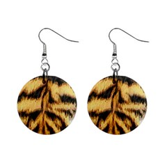 Tiger Fur Painting Mini Button Earrings