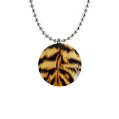 Tiger Fur Painting Button Necklaces