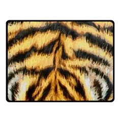 Tiger Fur Painting Double Sided Fleece Blanket (Small)