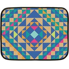 Tiling Pattern Double Sided Fleece Blanket (Mini)