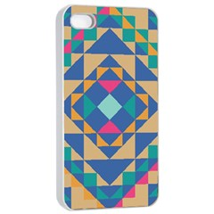 Tiling Pattern Apple iPhone 4/4s Seamless Case (White)