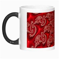 Fractal Art Elegant Red Morph Mugs