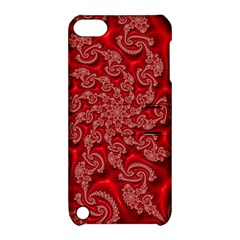 Fractal Art Elegant Red Apple iPod Touch 5 Hardshell Case with Stand