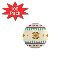 Your First Aztec Pattern 1  Mini Magnets (100 pack)