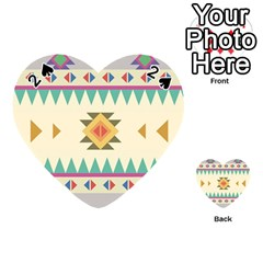 Your First Aztec Pattern Playing Cards 54 (Heart)