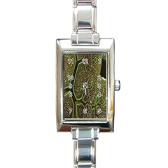 Fractal Complexity 3d Dimensional Rectangle Italian Charm Watch