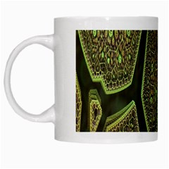 Fractal Complexity 3d Dimensional White Mugs