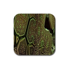 Fractal Complexity 3d Dimensional Rubber Coaster (Square)