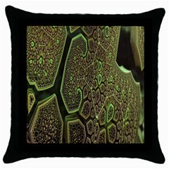 Fractal Complexity 3d Dimensional Throw Pillow Case (Black)