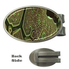 Fractal Complexity 3d Dimensional Money Clips (Oval)