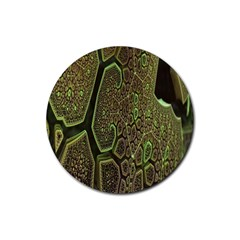 Fractal Complexity 3d Dimensional Rubber Coaster (Round)