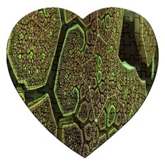 Fractal Complexity 3d Dimensional Jigsaw Puzzle (Heart)