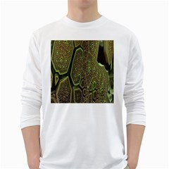 Fractal Complexity 3d Dimensional White Long Sleeve T-Shirts