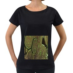 Fractal Complexity 3d Dimensional Women s Loose-Fit T-Shirt (Black)