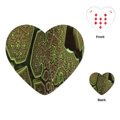 Fractal Complexity 3d Dimensional Playing Cards (Heart)