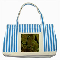 Fractal Complexity 3d Dimensional Striped Blue Tote Bag