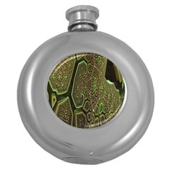 Fractal Complexity 3d Dimensional Round Hip Flask (5 oz)