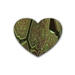 Fractal Complexity 3d Dimensional Rubber Coaster (Heart)