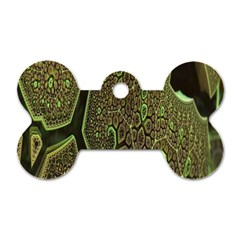Fractal Complexity 3d Dimensional Dog Tag Bone (Two Sides)