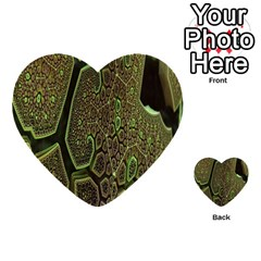 Fractal Complexity 3d Dimensional Multi-purpose Cards (Heart)