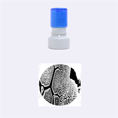 Fractal Complexity 3d Dimensional Rubber Round Stamps (Small)