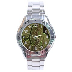 Fractal Complexity 3d Dimensional Stainless Steel Analogue Watch