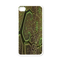 Fractal Complexity 3d Dimensional Apple iPhone 4 Case (White)