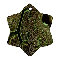 Fractal Complexity 3d Dimensional Snowflake Ornament (2-Side)