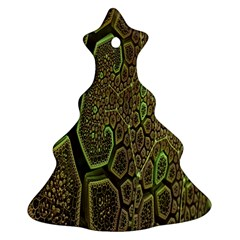 Fractal Complexity 3d Dimensional Christmas Tree Ornament (2 Sides)