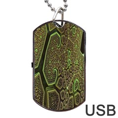 Fractal Complexity 3d Dimensional Dog Tag USB Flash (Two Sides)