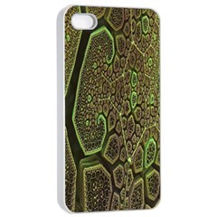 Fractal Complexity 3d Dimensional Apple iPhone 4/4s Seamless Case (White)