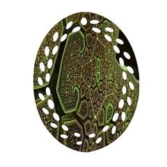 Fractal Complexity 3d Dimensional Ornament (Oval Filigree)